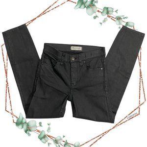 Madewell 9' high riser coated skinny jeans size 25